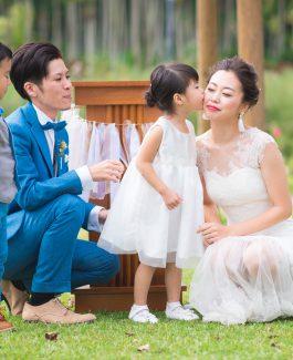 沖縄テーマパークで家族婚